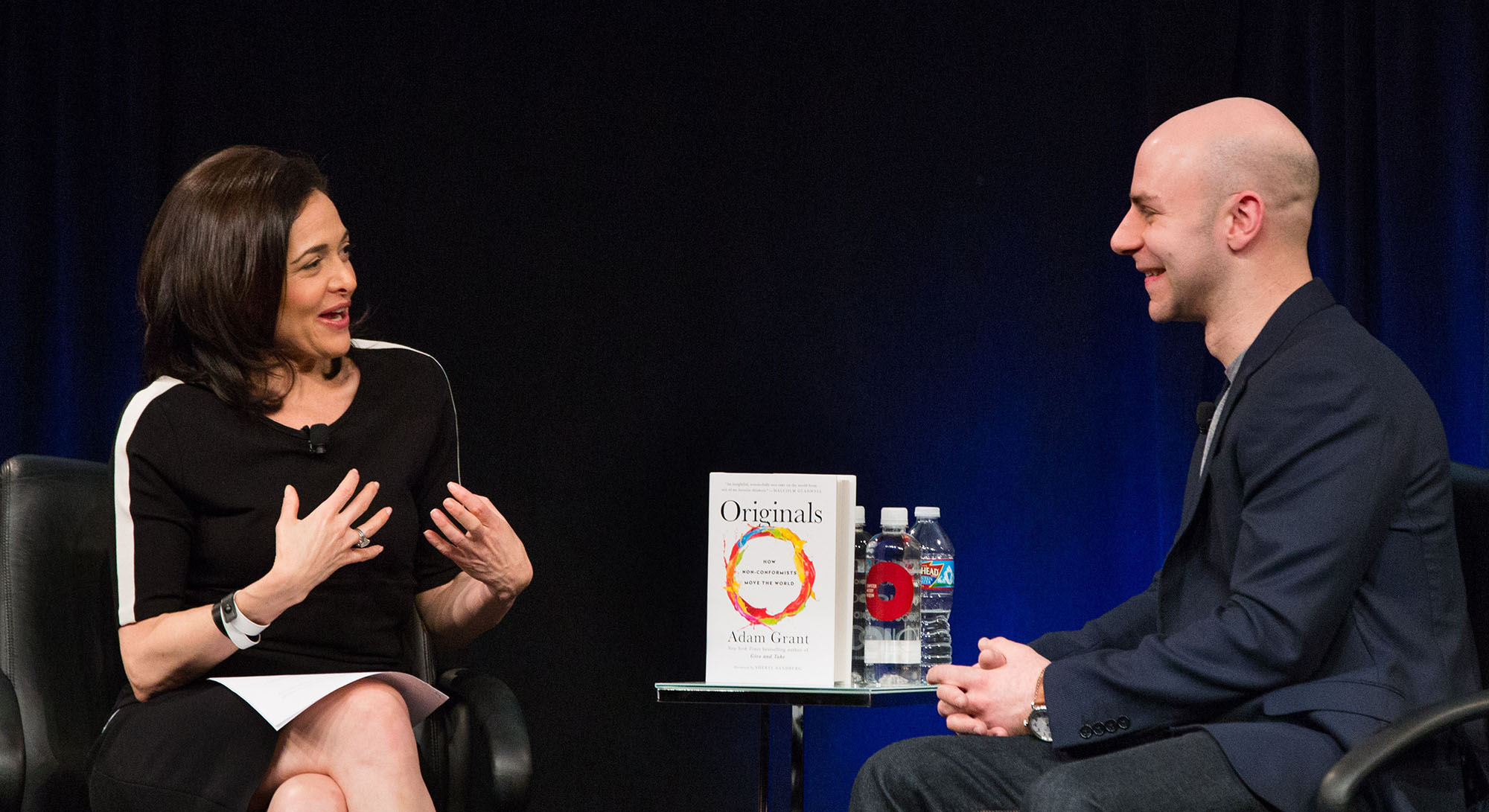Facebook COO Sheryl Sandberg leads a conversation with author Adam Grant about his book, <em>Originals</em>.