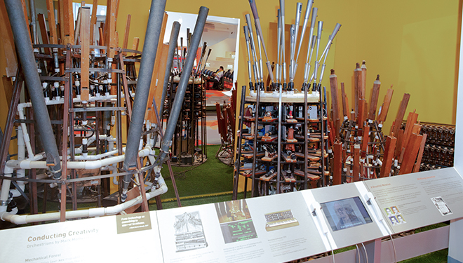 <i>Conducting Creativity: Orchestrions by Mark Mothersbaugh</i> on exhibit in the Learning Lab.