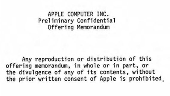 Apple Computer Inc. Preliminary Confidential Offering Memorandum
